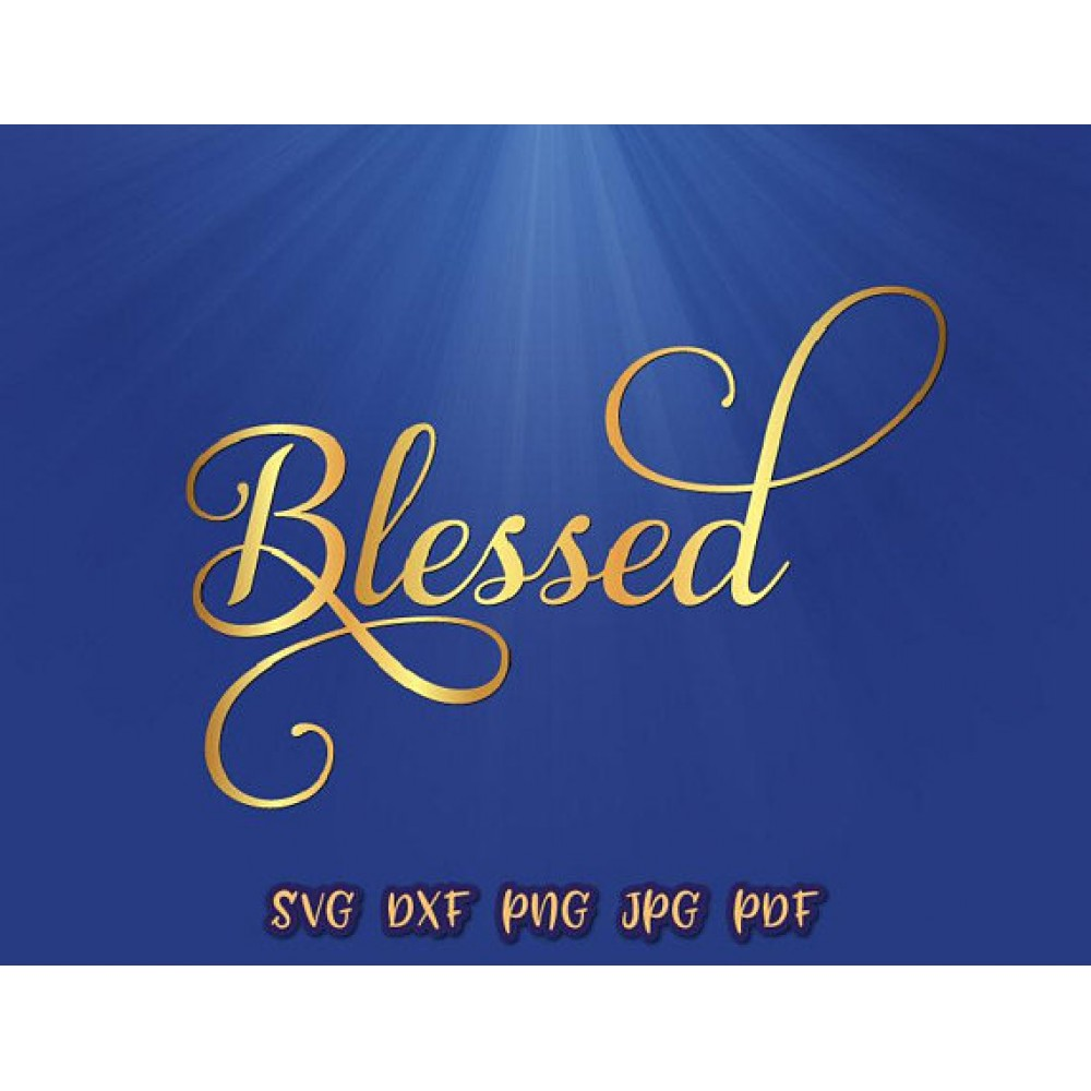 Blessed Svg Files For Cricut Vector Art Designs Easter Clipart
