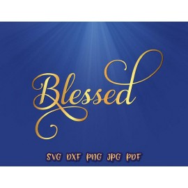 Blessed Easter Christian Clip Art Print and cut file Sublimation
