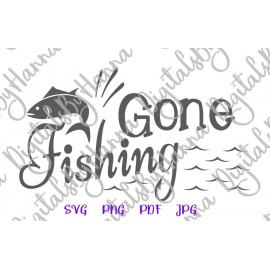 Download Gone Fishing Svg Camping Clipart Fish Sign Fisherman Lake Svg Files For Cricut Print Happy Camper Life