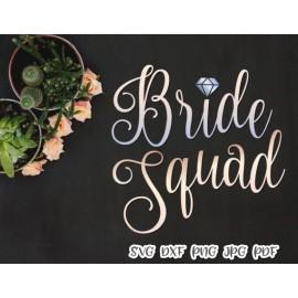 Bride Squad Clip Art Tribe Bachelorette Print and cut file Sublimation