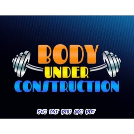 Body Under Construction Clip Art Print and cut file Sublimation